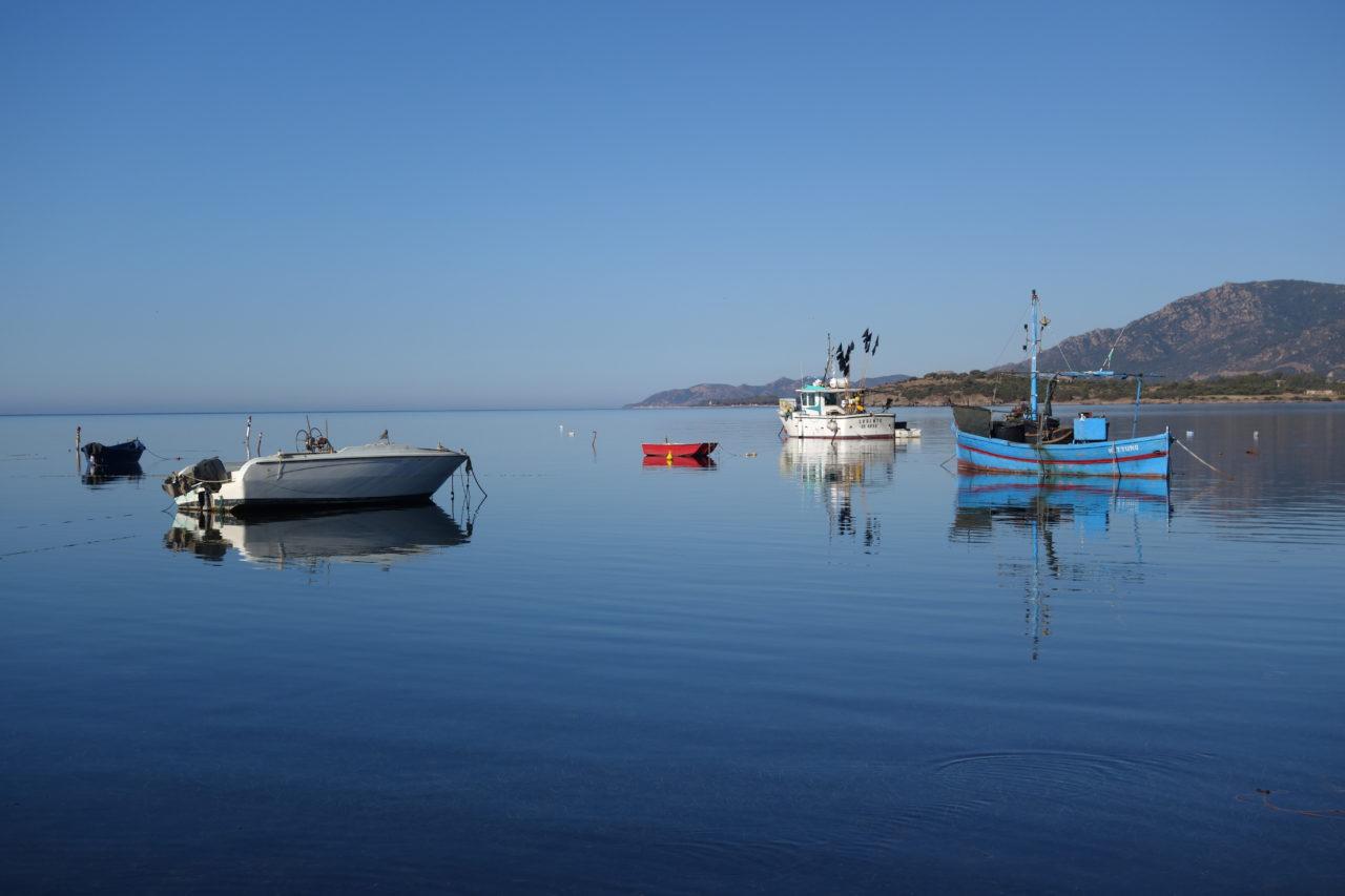 Meer Küste Schiffe Sardinien